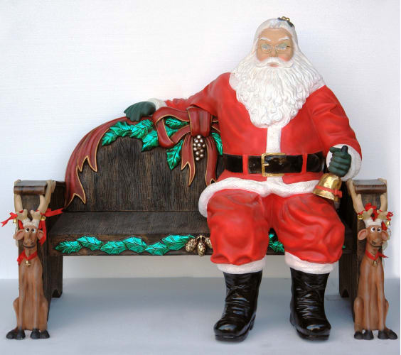 Christmas at Winterland WL-SANTA-SITTING Multicolor Santa 5 Foot Life Size Santa Sitting Down Indoor / Outdoor WL-SANTA-SITTING