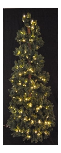 Christmas at Winterland WL-STR-06-GR-LWW Warm White Pre-Lit Christmas Trees 6 Foot Green Spiral Christmas Tree with Warm White LED Lights WL-STR-06-GR-LWW