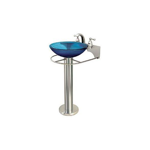 Vessel Sink Pedestal : ... Polished Chrome Pedestal Stand for Glass Vessel Sink Less Sink eBay