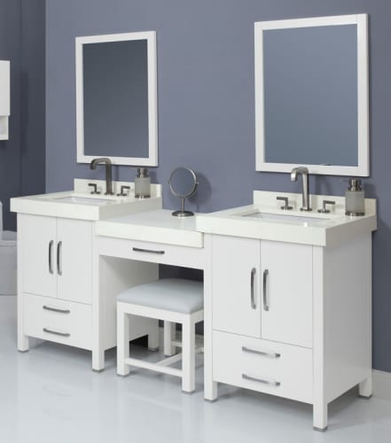 Decolav Cameron 76 Wht White Cameron 76 Double Vanity With 1 Drawer