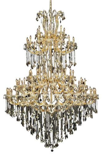 Elegant Lighting 2800G96G-GT/SS Swarovski Elements Smoky Golden Teak