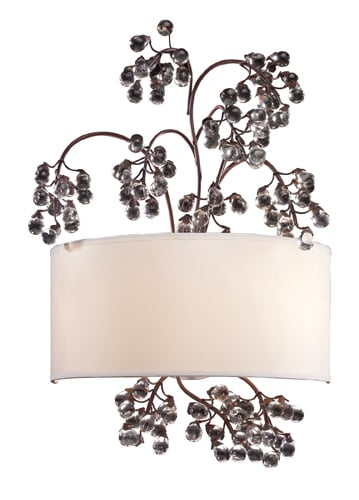 Elk Lighting 20058/2 Antique Darkwood Winterberry Two Light Wall Sconce from the Winterberry Collection 20058/2