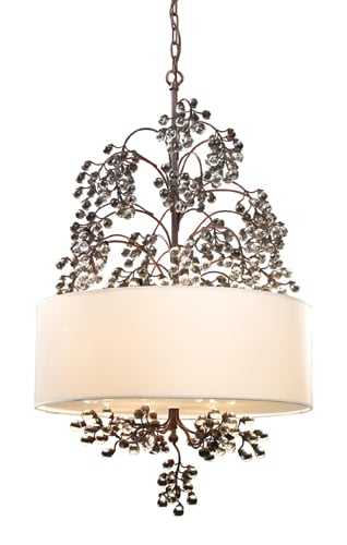 Elk Lighting 20059/4 Antique Darkwood Winterberry Four Light Chandelier from the Winterberry Collection 20059/4