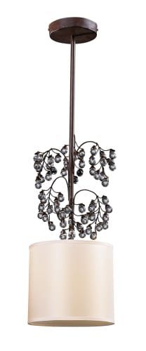 Elk Lighting 20069/1 Antique Darkwood Winterberry 1 Light Mini Pendant from the Winterberry Collection 20069/1