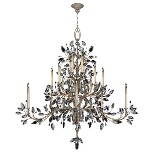 Fine Art Lamps 771240ST Antiqued Warm Silver Leaf Crystal Laurel
