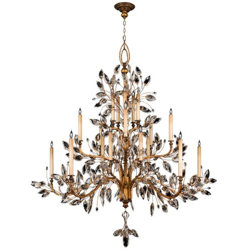 Fine Art Lamps 774540ST Antiqued Gold Leaf Crystal Laurel Gold Crystal