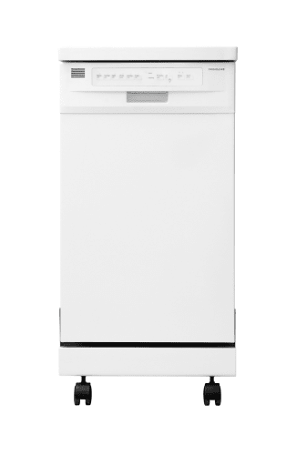 Frigidaire FFPD1821MW White  18 Portable Dishwasher with Stainless