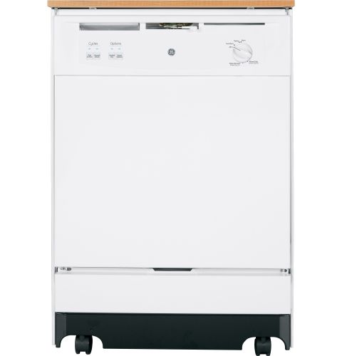 GE GSC3500DWW White  Portable Energy Star Dishwasher with Woodgrain