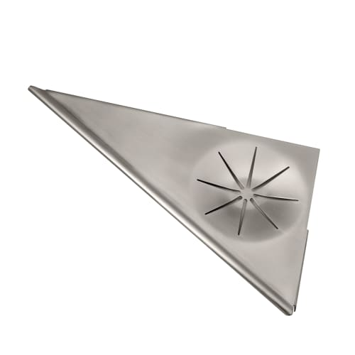 Gatco 1591 Satin Nickel 11-1/4 Inch Corner Shower Shelf 1591