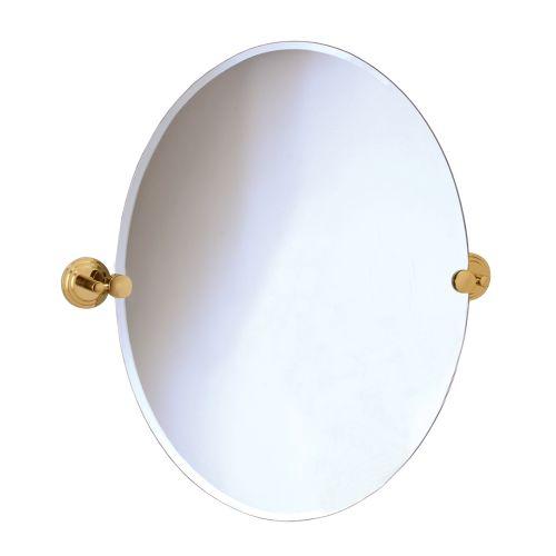 Gatco 5219 Marina Polished Brass Tilting Oval Mirror Oval – Brass Bathroom Mirror