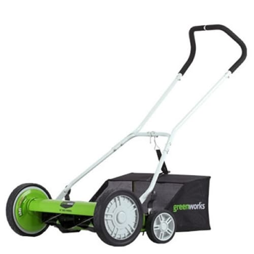 GreenWorks 25072 Push  2-in-1 Reel Lawn Mower with 20 Cutting Width