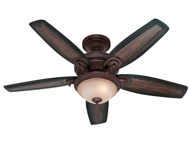 "Hunter 28787 Claymore 54"" Five Blade Indoor Ceiling Fan with Blades and Light Ki"