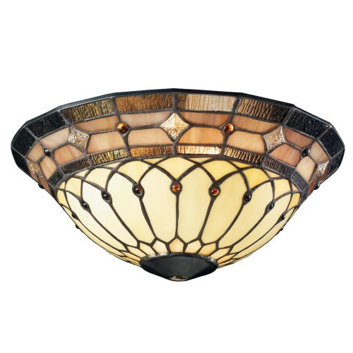 Kichler 340001 Stained Glass Art Glass Bowl Glass for Kichler Ceiling Fans : eBay
