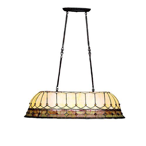 stained glass tiffany three light island billiard fixture from ebay. Black Bedroom Furniture Sets. Home Design Ideas