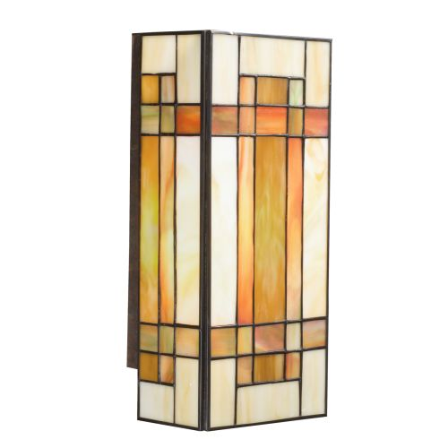 Tiffany Wall Sconce With Switch : Kichler 69004 Patina Bronze Stained Glass Tiffany Two Light Wall Sconce with A eBay