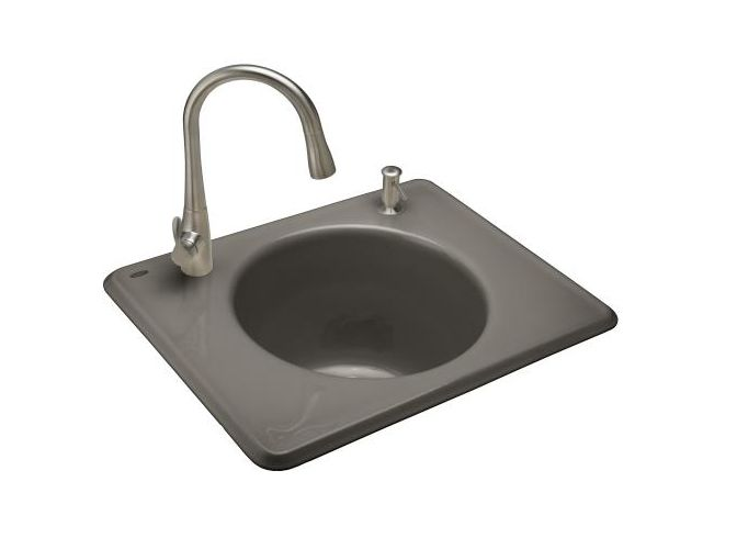 Kohler k 6654 2 self rimming cast iron utility sink from the tandem series ebay - Cast iron sink weight ...
