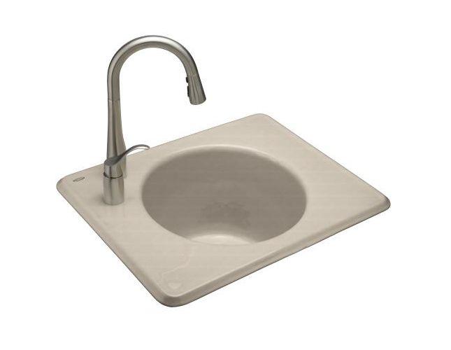 Kohler k 6654 3lu tandem cast iron undermount utility sink with 3 faucet holes ebay - Cast iron sink weight ...