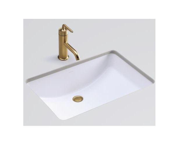 Stand units profit kohler ladena honed white undermount for Kohler ladena white undermount rectangular bathroom sink with overflow
