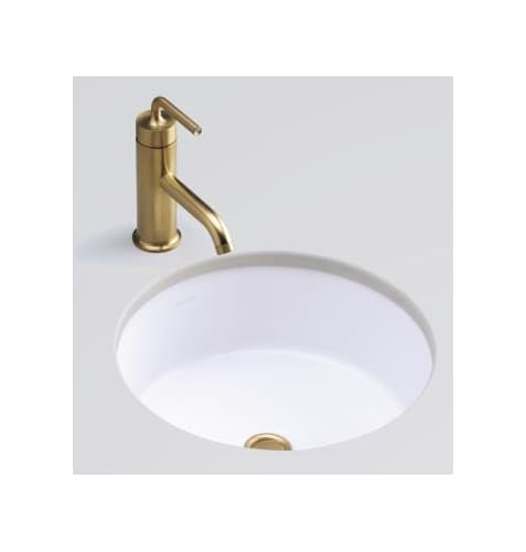 Cabinets Deals Just For Kohler Verticyl Honed White Undermount Round Bathroom Sink With