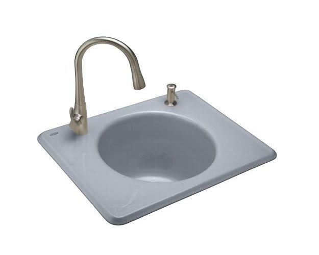 Kohler k 6654 2 self rimming cast iron utility sink from the tandem series ebay - Accessible sink base ...