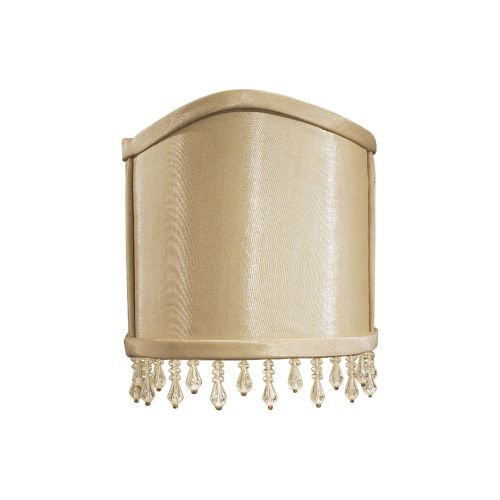 Wall Sconces With Half Shades : Metropolitan SH2002 Silkglow Half Round Fabric Wall Sconce Shade with Bead Trim eBay