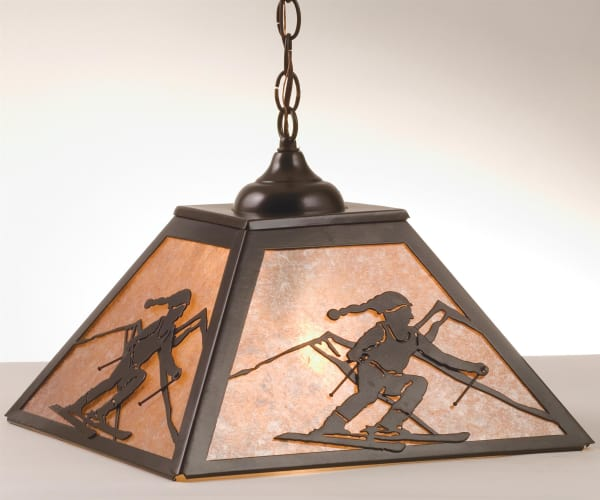 Meyda Tiffany 74104 Timeless Bronze  Two Light Down Lighting Pendant