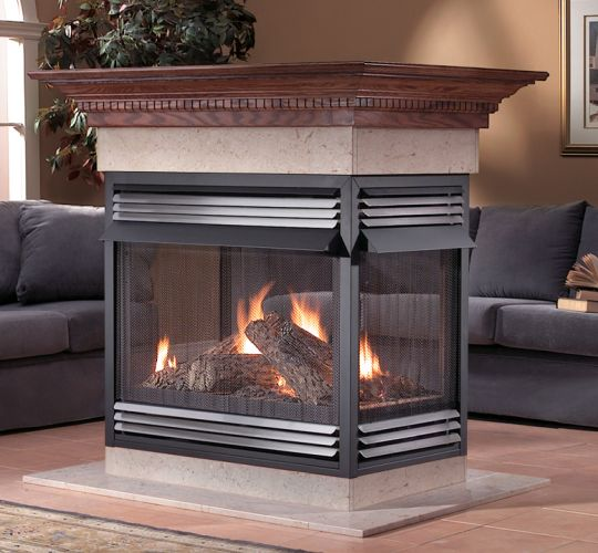 Vent free natural gas products on sale for 4 sided fireplace
