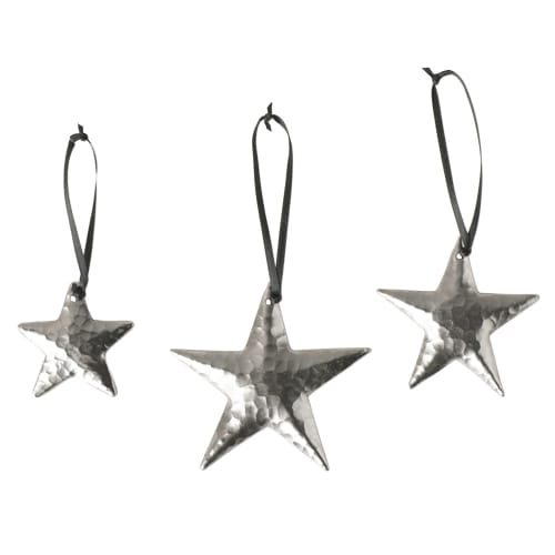Native Trails CPO535 Brushed Nickel  Handcrafted Copper Star Ornaments