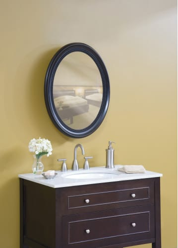 Pegasus Sp4602 Espresso Deco Oval Deco Framed Medicine Cabinet Sp4602 Oval Bathroom Mirrors