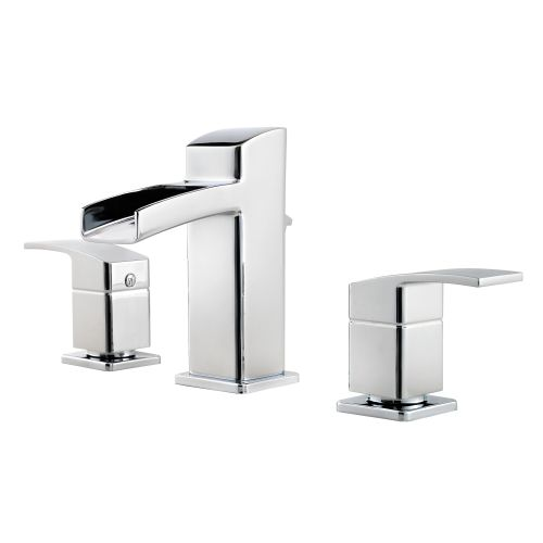 Pfister gt49 df0 polished chrome kenzo widespread waterfall bathroom faucet ebay - Widespread waterfall faucet ...