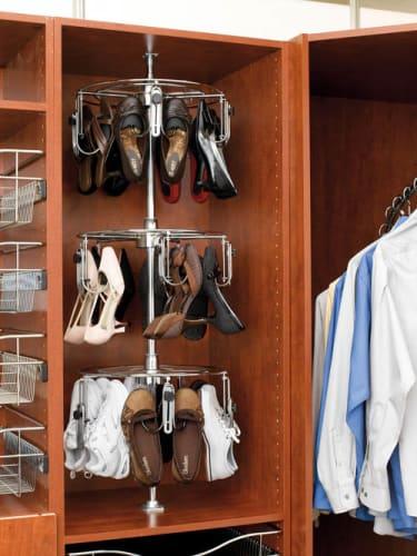 Rev-A-Shelf CLSZ-W3-55-1 Chrome 3 Shelf Women s Lazy Shoe-Zen