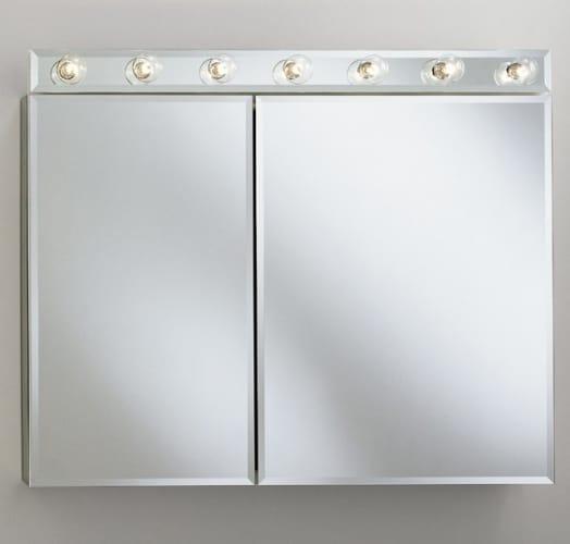 Robern Cdc3526fs Silver Frameless 35 Double Door Mirrored Medicine