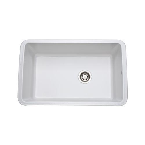 rohl 6307 white 31 allia undermount fireclay kitchen sink