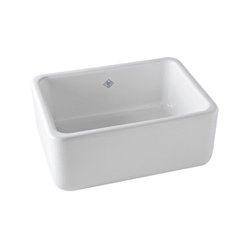 Rohl Rc2418 White 24 Quot Handcrafted Single Basin Fireclay