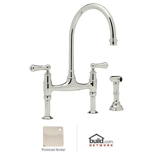 rohl u 4719l 2 polished nickel perrin and rowe low lead rohl country kitchen faucet replacement parts for