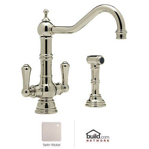 Rohl U 4766 2 Perrin and Rowe Low Lead Kitchen Faucet with Side Spray ...