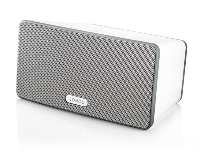 Sonos Play3W White  Wireless TriAmped Three Speaker Sound System