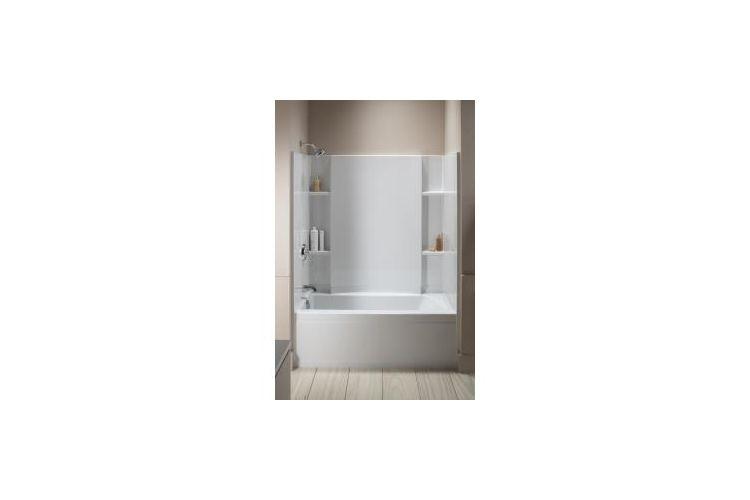 Sterling By Kohler Accord Bath Shower Kit White Bathroom Tile