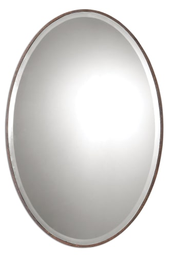 Uttermost 9509 Rust Bronze Beulah Oval Mirror 9509