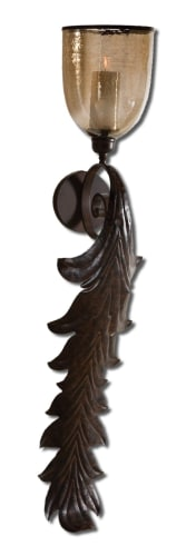 Uttermost 19732 Dark Rust Bronze  Tinella Candle Holder
