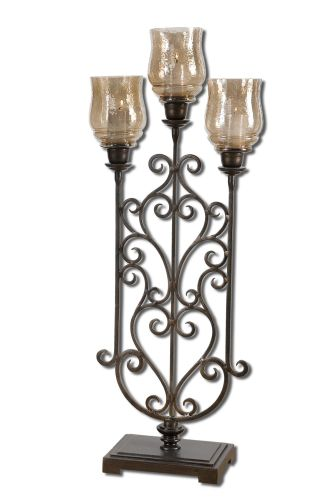 Uttermost 19734 Antique Bronze  Fela Candle Holder
