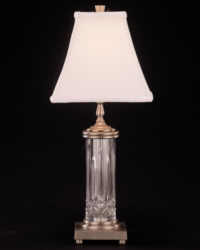 Waterford 1094352200 Silver Luna Lismore Crystal Accent Table Lamp from the Lismore Collection 109-435-22-00