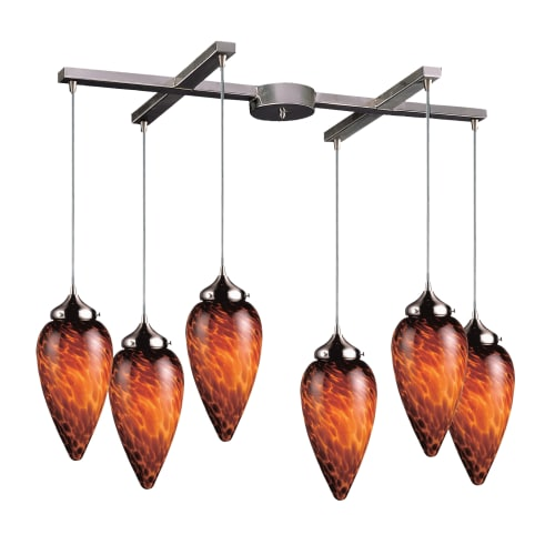 Elk Lighting 503-6 Art Deco Billiard Fixture