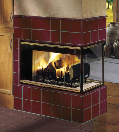 Majestic MPL11 Peninsula Radiant Wood Burning Fireplace