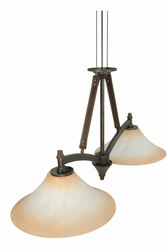Nuvo Lighting 60/1043 Transitional Two Light Down Lighting Island Billiard Fixture