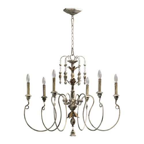 Quorum International 6006-6 6 Light Up Light Chandelier from the Salento Collection