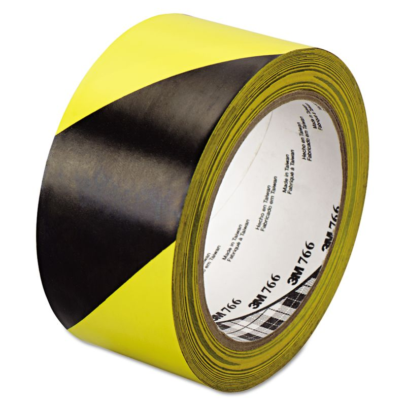 3M MMM02120043181 766 Hazard Warning Tape BlackYellow 2 x 36 Yards