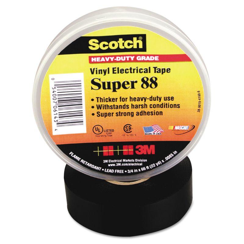 3M MMM06143 Scotch 88 Super Vinyl Electrical Tape 34 x 66 Ft