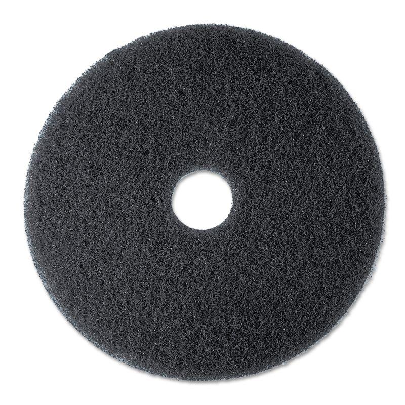 3M MMM08375 Stripper Floor Pad 7200 13 Black 5 Count