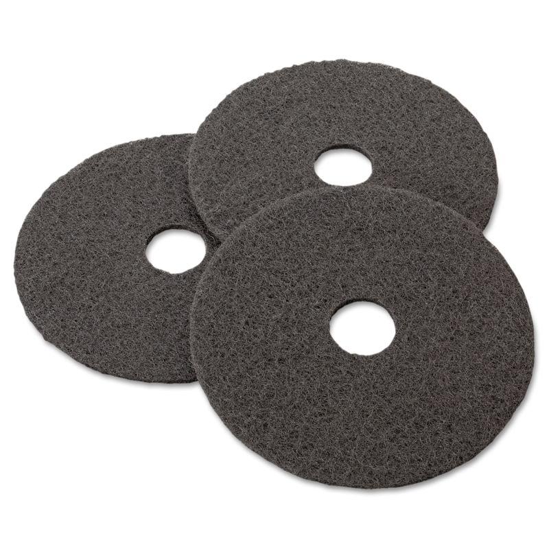 3M MMM08379 Stripper Floor Pad 7200 17 Black 5 Count